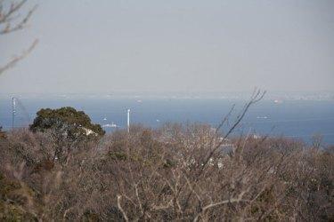 展望台。横浜方面を見ます。