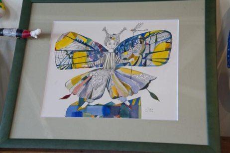 イシイリョウコ原画「ちょうちょう」、46,000円。
