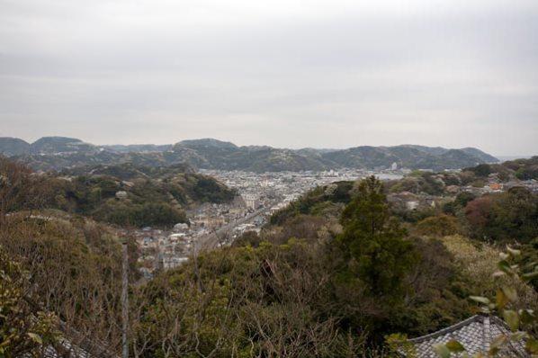 山王様からの景色。横浜方面をのぞみます。