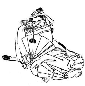 『前賢故実』の八田知家。