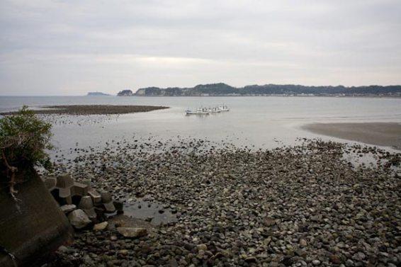 最後は現存する最古の港湾施設、和賀江嶋。名執権とされる第3代執権北条泰時の遺構です。