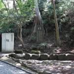 長楽寺跡。源頼朝の菩提を弔うために北条政子が建立しました。現在は鎌倉文学館となっています。