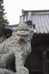 相馬天王(八坂神社)の狛犬。
