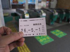 これが一日乗車券「のりおりくん」です。やはり電車は切符に限る。