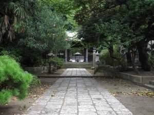 とても静かな常立寺の境内。