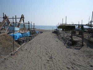 〈4〉実際の由比ケ浜海岸の西端、坂ノ下地区