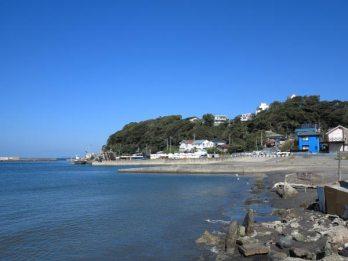 三浦十二天(十二所神社)は芦名海岸裏手の山にあります。