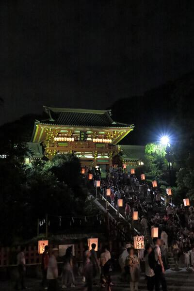 鶴岡八幡宮のぼんぼり祭り。