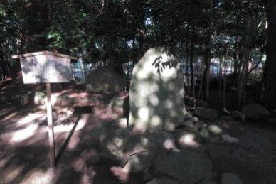 松尾芭蕉の句碑。
