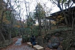 晩秋の一条恵観山荘。
