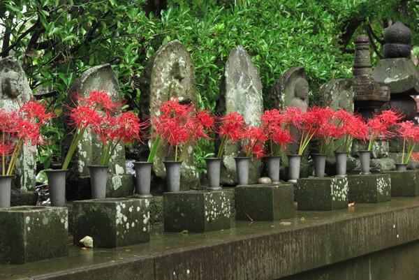成福寺境内の六地蔵。