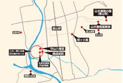 蛭ヶ小島周辺の主な関連史跡。他にもあると思います。取材でき次第追加しようと思います。
