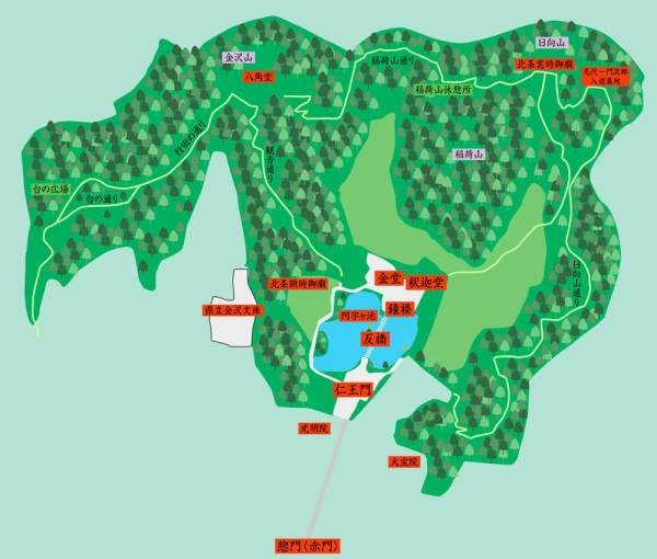 称名寺境内略図
