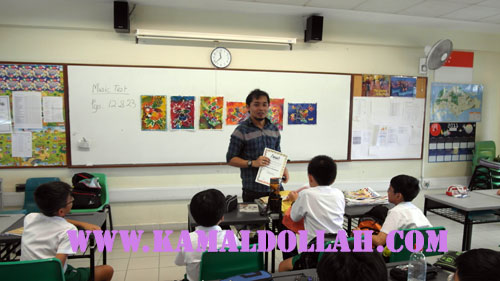 dino hafian kamal dollah teaching batik in schools, pagi sore