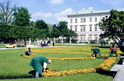 Jardines del palacio de Mirabell.