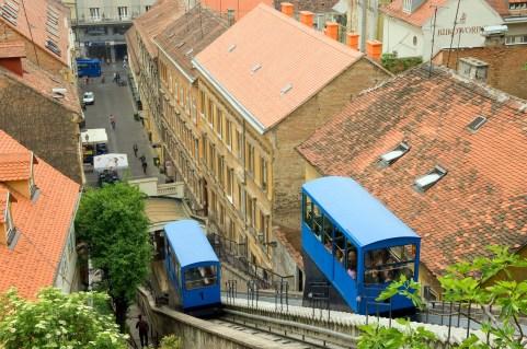 CROACIA. ZAGREB. Tranvía Uspinjaca.