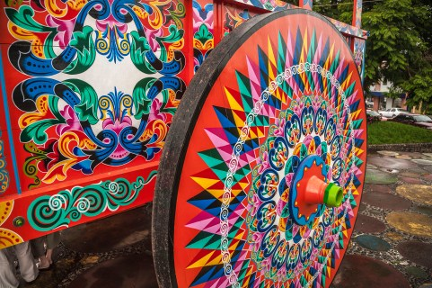 Carro, simbolo de Costa Rica.Coffee ox-cart, Sarchi, Costa Rica.