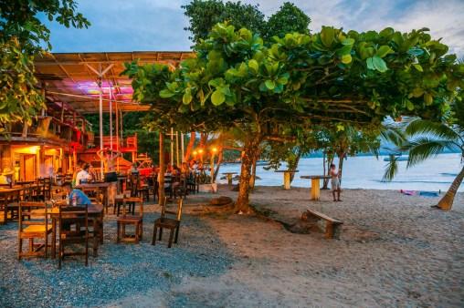 The Lazy Mon Bar. Beach. Puerto Viejo de Talamanca. Limon Province. Costa Rica