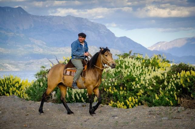 Gaucho a caballo.