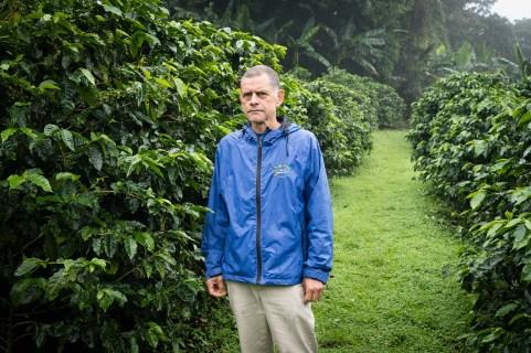 Guillermo Vargas, café de Monteverde.