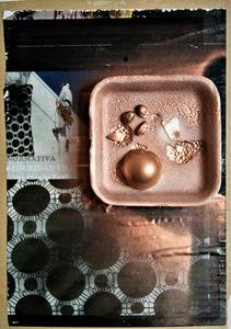 """I. Mindiuz. """"Nothing"""". 2011. Koliažas. Popierius/kartonas. 21 x 18 cm"""