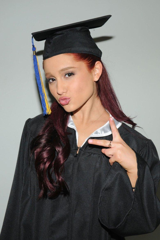 ARIANA GRANDE Graduates from High School