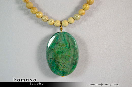 Green Picture Jasper Necklace
