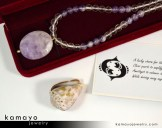 Pisces Necklace - Lavender Amethyst Pendant and Clear Quartz Beads