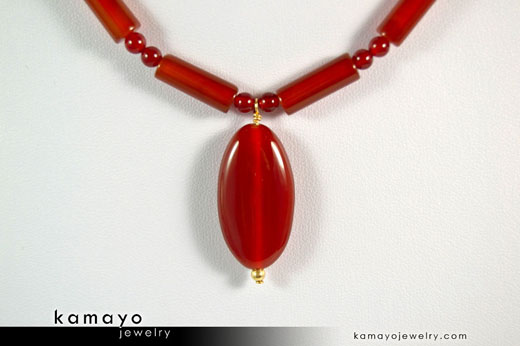 Sard Carnelian Necklace