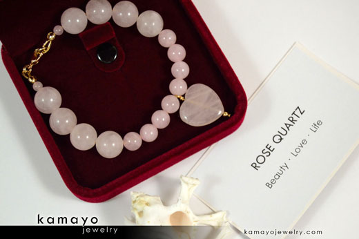 Rose Quartz Bracelet on Jewelry Box
