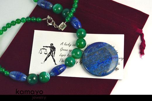 Libra Necklace - Lapis Lazuli Pendant
