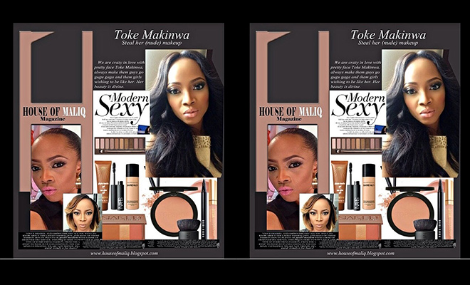 OAP Toke Makinwa Talks About Her Nude Makeup In House Of Maliq's July Issue