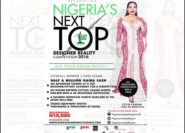 Season #2: Nigeria's Next Top Designer Reality Tv Competition