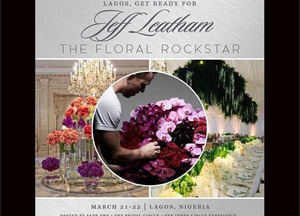 Countdown to The Jeff Leatham Floral Experience Lagos