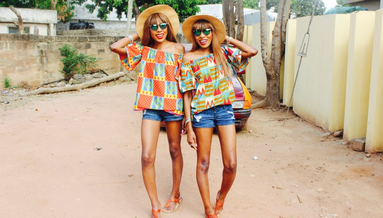 LOTD: DPiperTwins Serve Ankara & Denim Fashion!