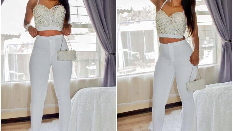 Look Of The Day: Linda Mpambani In White Embellishment