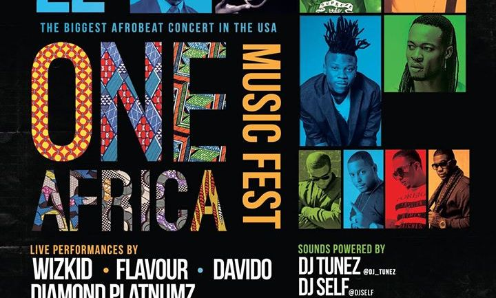 It's 2 Days Left to One Africa Music Fest! Tiwa Savage, Flavour and Wizkid to Perform (Photos)