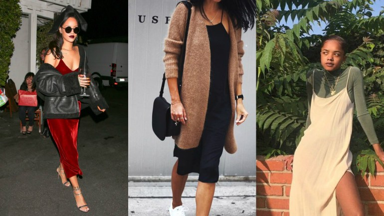 The Slip-on Dress Is Back In Trend