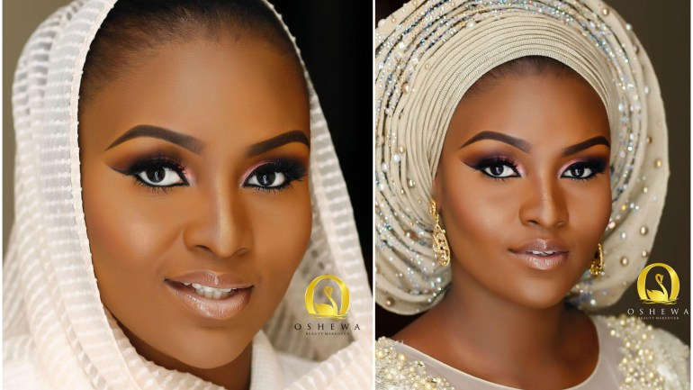 Wedding Glam: Makeup, Hijab & Gele Of Northern Bride Mariam!