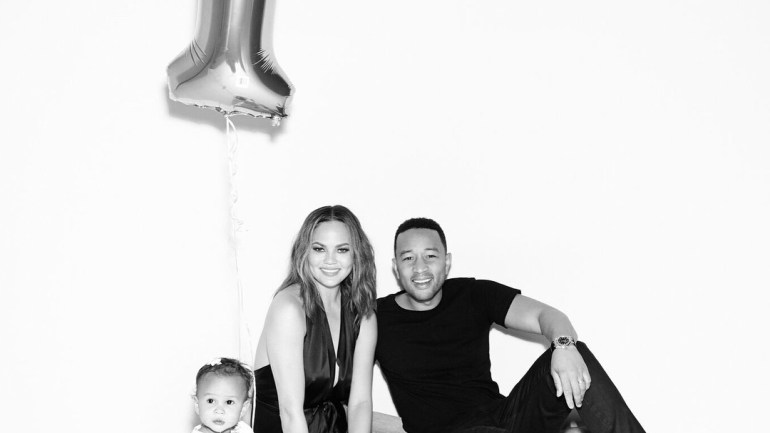 Happy Birthday Luna! John Legend & Chrissy Teigen's Baby Clocks 1