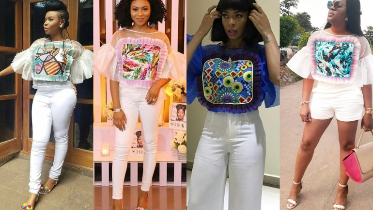 Celebrities & Fashionistas Seem To Love The Belois Candy Top' By Nigerian Designer Belois Couture