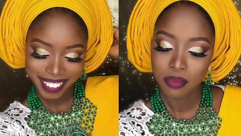 This Makeup & Multi Pleat Gele Tutorial By Layefa Beauty Will Have You Looking Like A Gorgeous Wedding Guest In No Time