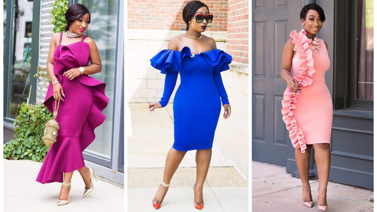 Fashion: Chic Ama Is No Learner With The Ruffle Style Trend!