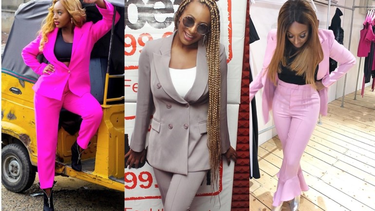 """Suit Style """"Vybe"""" With Dj Cuppy: 4 Times She Wowed Us In Suits!"""