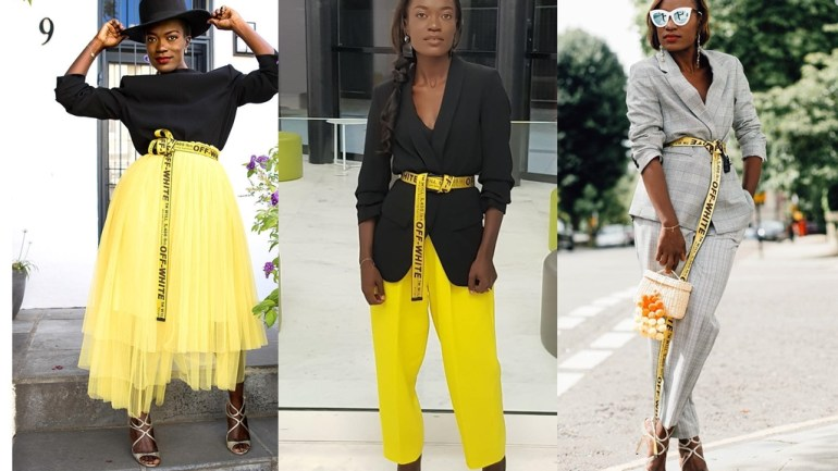 How To Style The Off-White Industrial Belt The Irondina Bizeul Way!