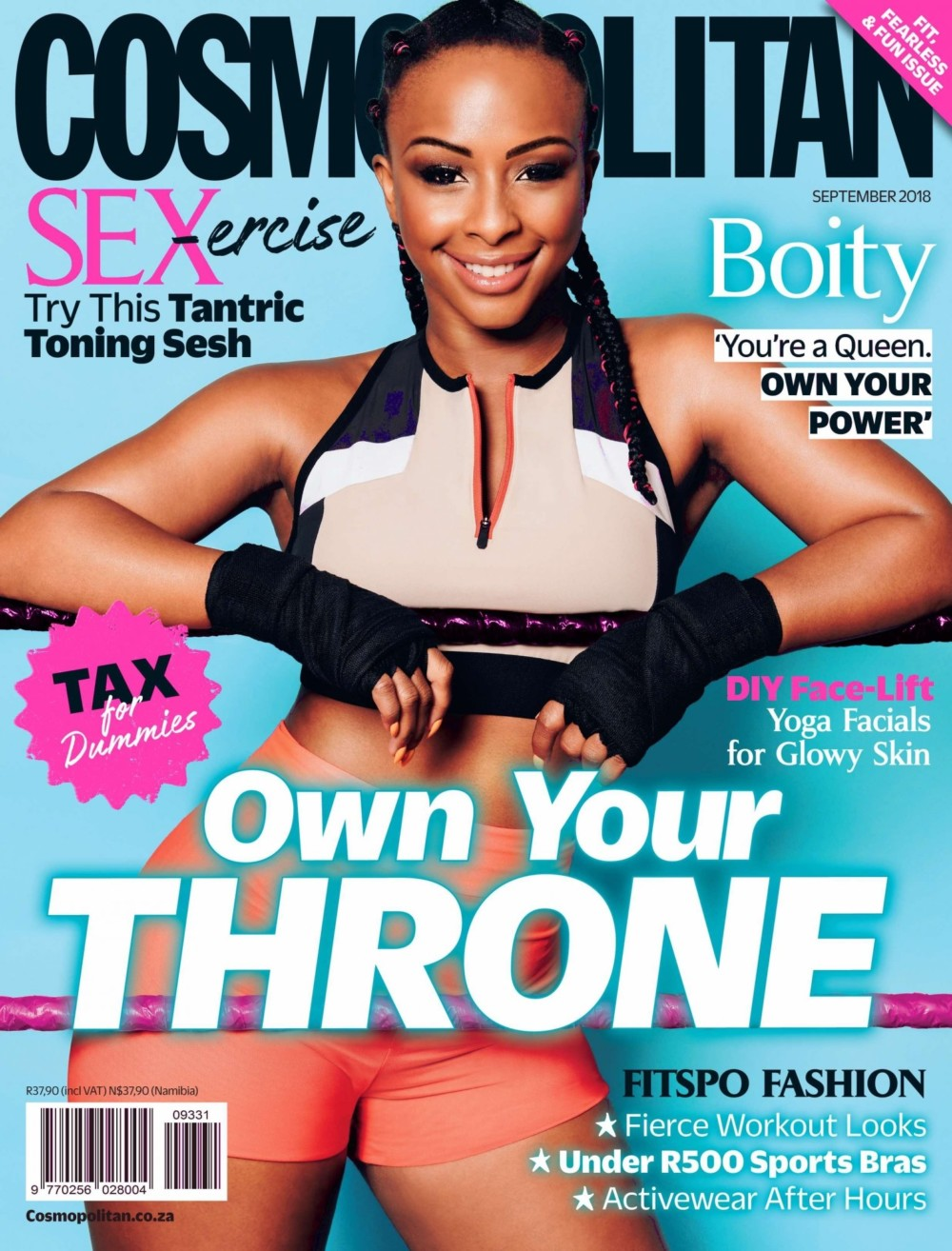 Boity Thulo Stuns On The Cover Of Cosmopolitan SA September Issue