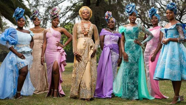 Aso Ebi Styles #141: Zainab Balogun, Shaffy Bello, Sharoon Ooja And Others Stun At Yolanda Okereke And Kabiri Fubara's Traditional Wedding