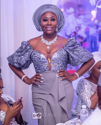 Aso Ebi Styles #137: Grey, The Chic Colour Of The Season