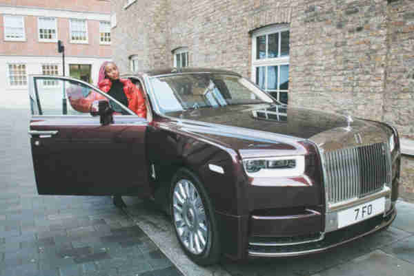 DJ Cuppy Has Picked Up HeR Specially Built Rolls Royce Order!!!