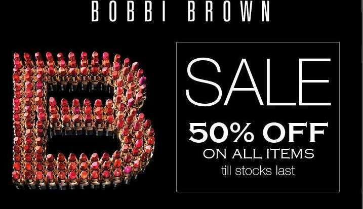 How You Can Tap Into The 50% Discount On All Items In Bobbi Brown Lekki Store